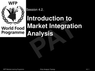 Introduction to Market Integration Analysis