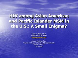 hiv among asian american and pacific islander msm in the u.s.: a ...