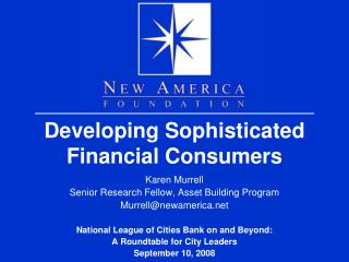 Developing Sophisticated Financial Consumers