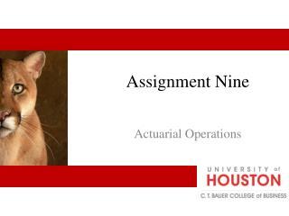 Assignment Nine