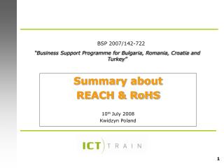 Business Support Programme for Bulgaria, Romania, Croatia and Turkey