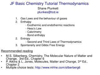 JF Basic Chemistry Tutorial Thermodynamics