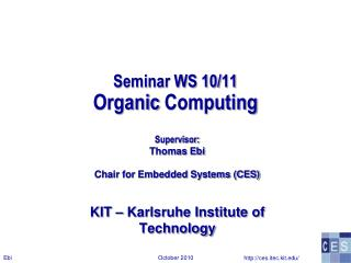 Seminar WS 10