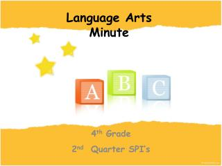 4th Grade 2nd  Quarter SPI s