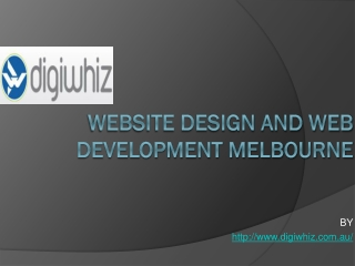 Website Design and Development Melbourne