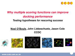 Why multiple scoring functions can improve docking performance Testing hypotheses for rescoring success   Noel O Boyle,
