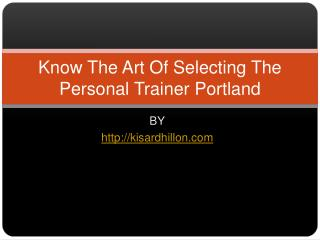 Personal Fitness Trainer in Portland Oregon