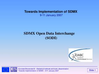 SDMX Open Data Interchange SODI