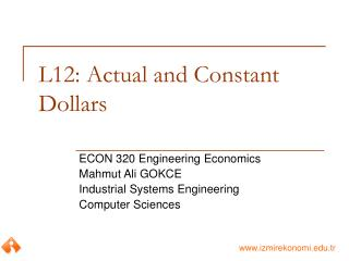 L12: Actual and Constant Dollars
