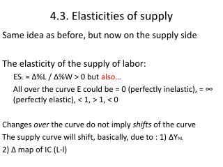 4.3. Elasticities of supply