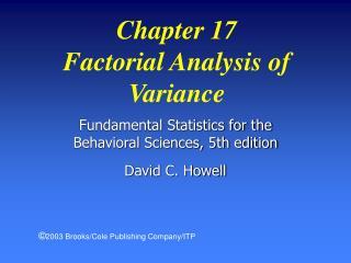 Fundamental Statistics for the Behavioral Sciences, 5th edition David C. Howell