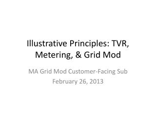 Illustrative Principles: TVR, Metering,  Grid Mod
