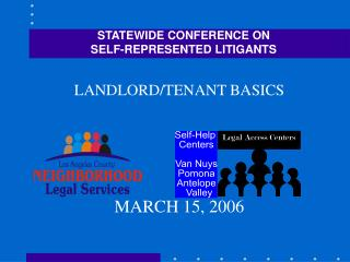 STATEWIDE CONFERENCE ON                                  SELF-REPRESENTED LITIGANTS