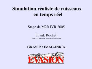 Simulation r aliste de ruisseaux  en temps r el