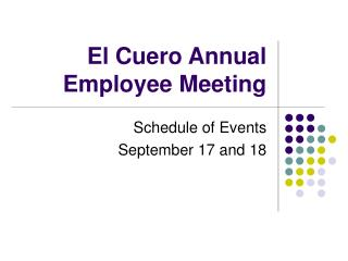 El Cuero Annual Employee Meeting