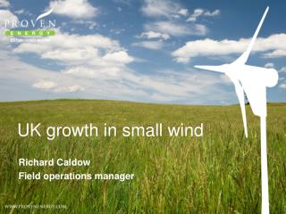 UK growth in small wind