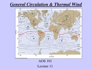 General Circulation  Thermal Wind