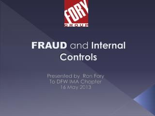 FRAUD and Internal Controls