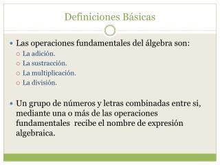 Definiciones B sicas