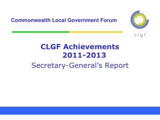 Commonwealth Local Government Forum