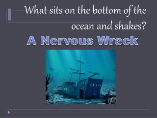 What sits on the bottom of the ocean and shakes