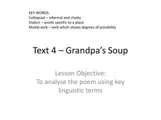 Text 4   Grandpa s Soup