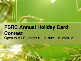 PSRC Annual Holiday Card Contest