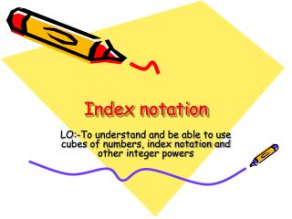 Index notation