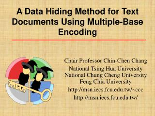 A Data Hiding Method for Text Documents Using Multiple-Base Encoding