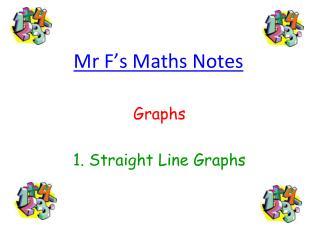 Mr F s Maths Notes