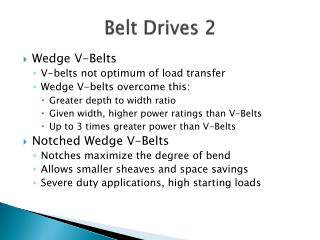 Belt Drives 2