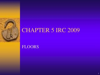 CHAPTER 5 IRC 2009
