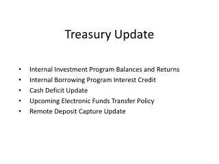Treasury Update