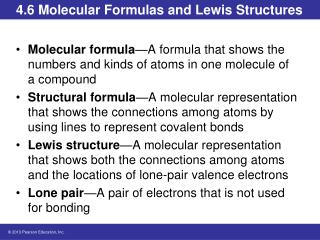 4.6 Molecular Formulas and Lewis Structures