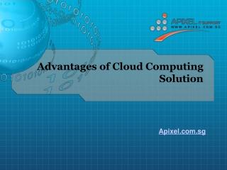 Cloud Computing Solutions Advantages