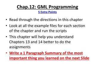 Chap.12: GML Programming 5 Extra Points