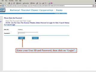 Enter your User ID and Password, then click on  Login .