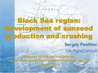 black sea region:  development of sunseed production and crushing