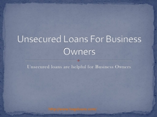 Unsecured Loans For Business Owners