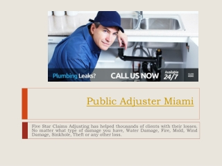 Public Adjuster Fort Lauderdale