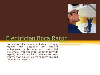 Electrical Contractor Fort Lauderdale