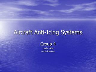 aircraft anti-icing systems