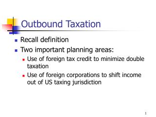 Outbound Taxation