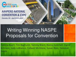 Writing Winning NASPE Proposals for Convention