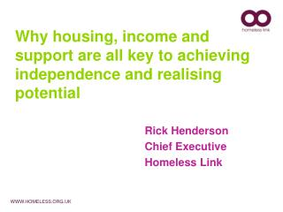 Why housing, income and support are all key to achieving independence and realising potential