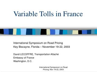 variable tolls in france