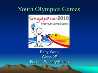 Youth Olympics Games Elrey Wong