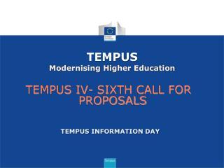 TEMPUS Modernising Higher Education