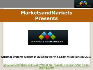 Actuator Systems Market in Aviation worth $3,839.74 Millions