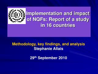 Implementation and impact of NQFs: Report of a study  in 16 countries